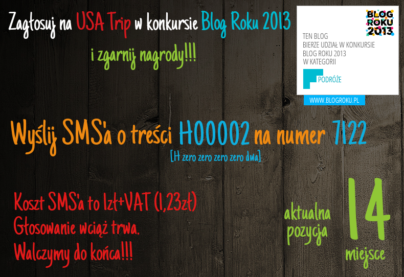 Konkurs Blog Roku 2013 - Jesteśmy na 15 miejscu