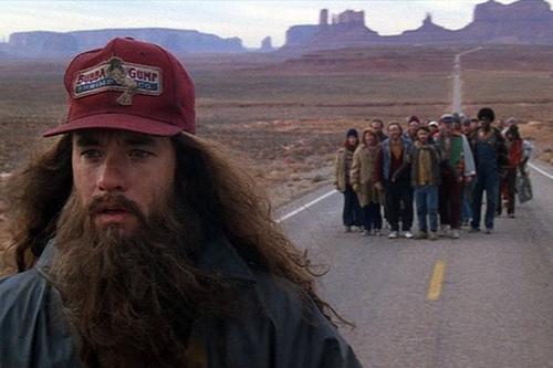 Scena z filmu Forrest Gump