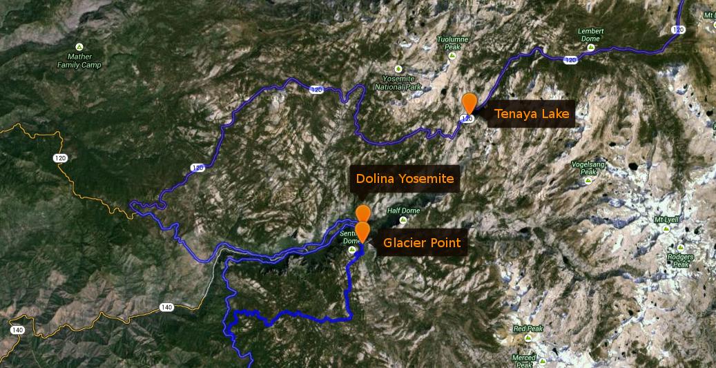 Trasa - 17 lipiec, Narodowy Park Yosemite
