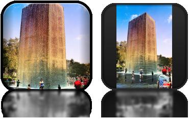 Crown Fountain w Millenium Park