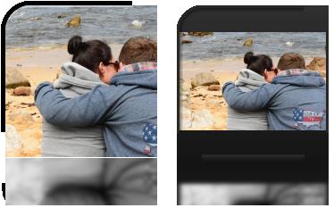 Simi i Marzenka wpatrzeni w ocean