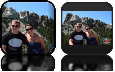 Mount Rushmore (wykute w skale głowy prezydentów USA, od lewej Washington, Jefferson, Roosevelt, Lincoln)
