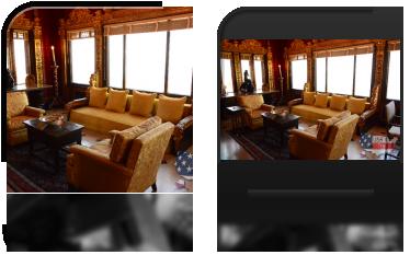 Wnętrze w jednym z domów gościnnych w Hearst Castle