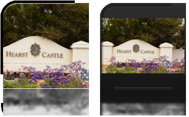 Brama wjazdowa do zamku Hearst'a