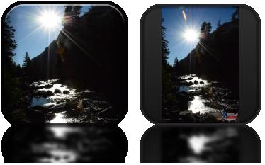 Rwące potoki w dolinie Yosemite