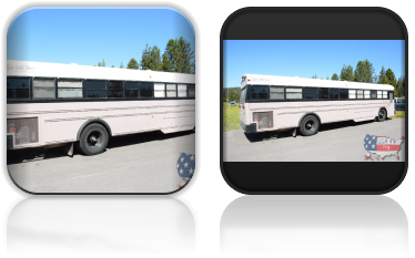 Autobus Bruce'a - ziomka, któremu podebraliśmy miejsce namiotowe ;)