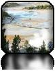 Widok na Lower Geyser Basin