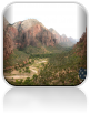 Widok na dolinę Zion National Park